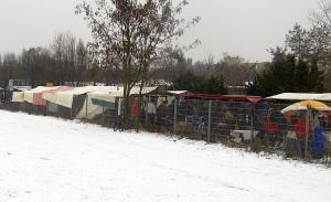 Mauerpatk Grenze Winter