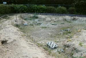 Der gesperrte Spielplatz im Herbst 2014