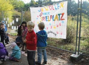 Protest gegen die geplante Einebnung