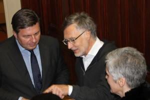 In allen wesentlichen Punkten durchgesetzt: Kurt Krieger mit Senator Andreas Geisel