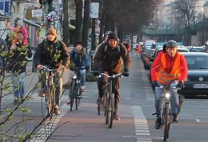 Mehr Raum für Radfahrer und Fußgänger