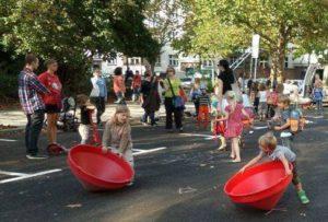Spielen als Pilotprojekt - Foto BI Spielstraße